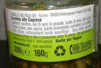 D'amico Zucchine Alla Caprese Vap GR 280 - Ingredients - fr
