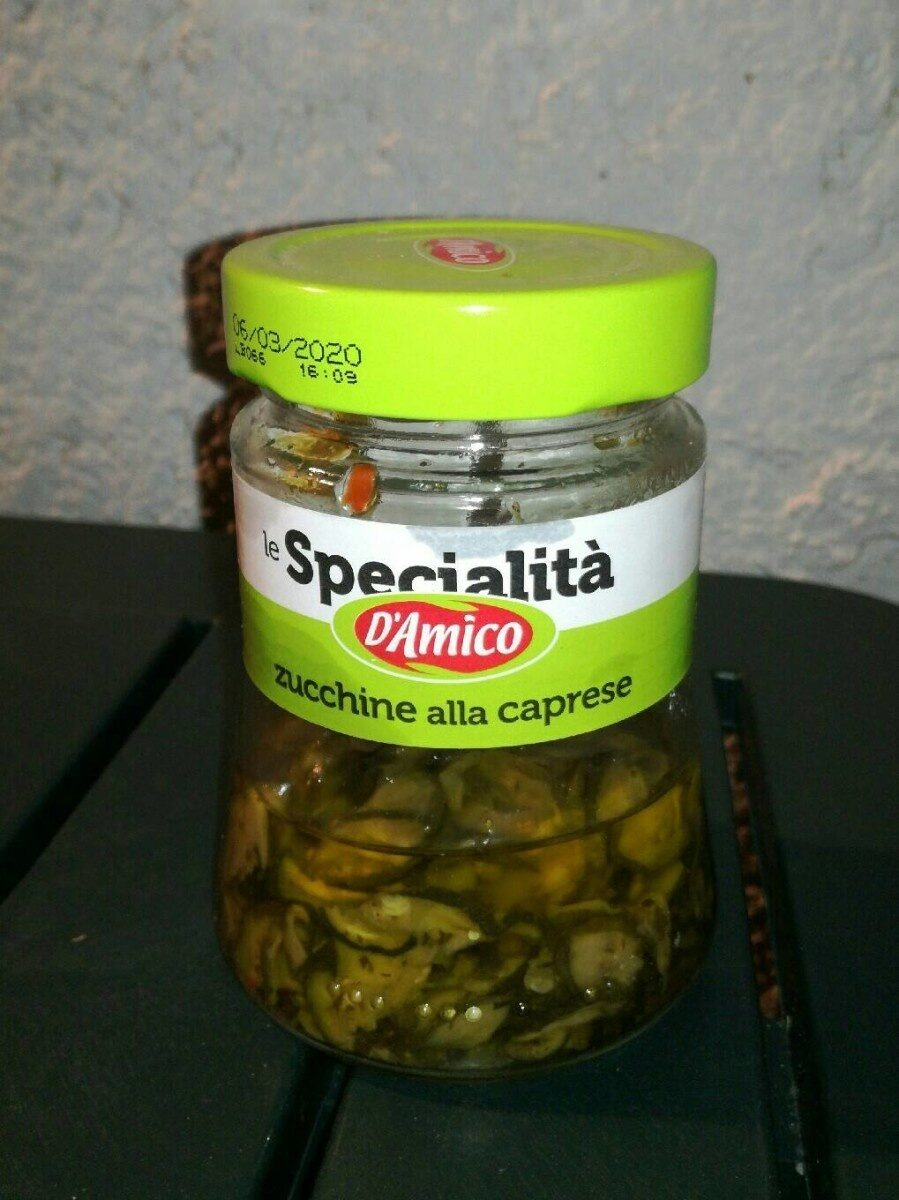 D'amico Zucchine Alla Caprese Vap GR 280 - Nutrition facts - fr