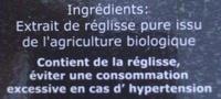 pastille de réglisse naturelle - Ingrediënten - fr