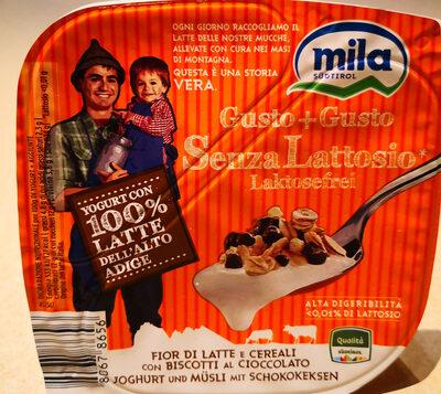 Yogurt Fior di latte e Cereali con biscotti al cioccolato - Gusto + Gusto - Product