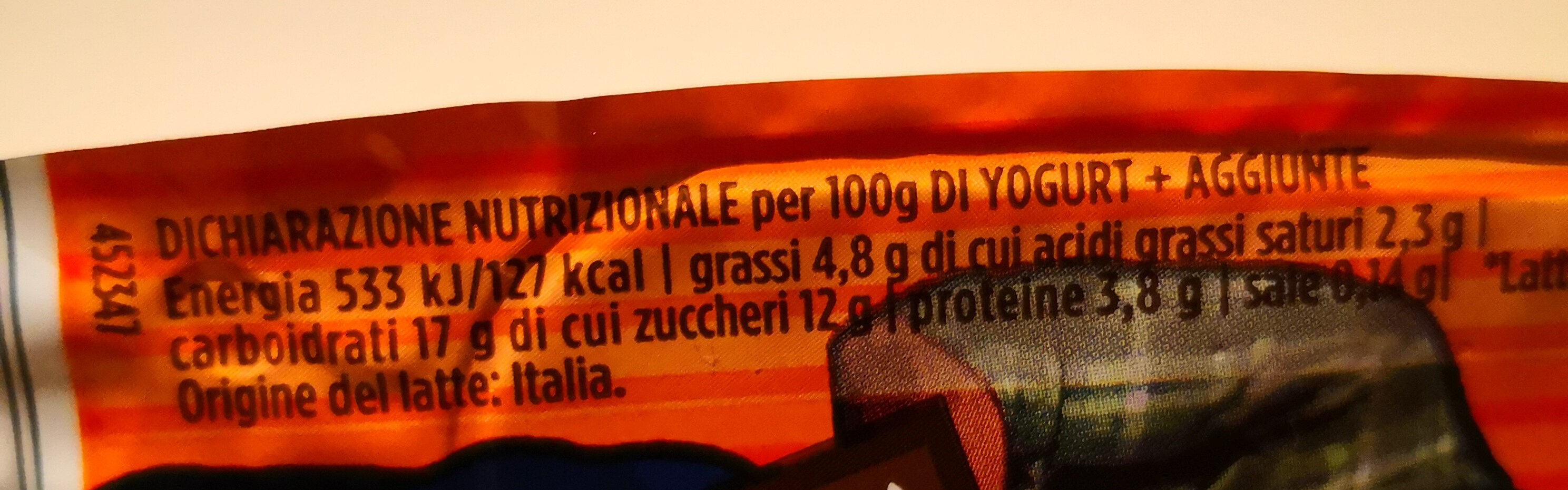 Yogurt Fior di latte e Cereali con biscotti al cioccolato - Gusto + Gusto - Informations nutritionnelles