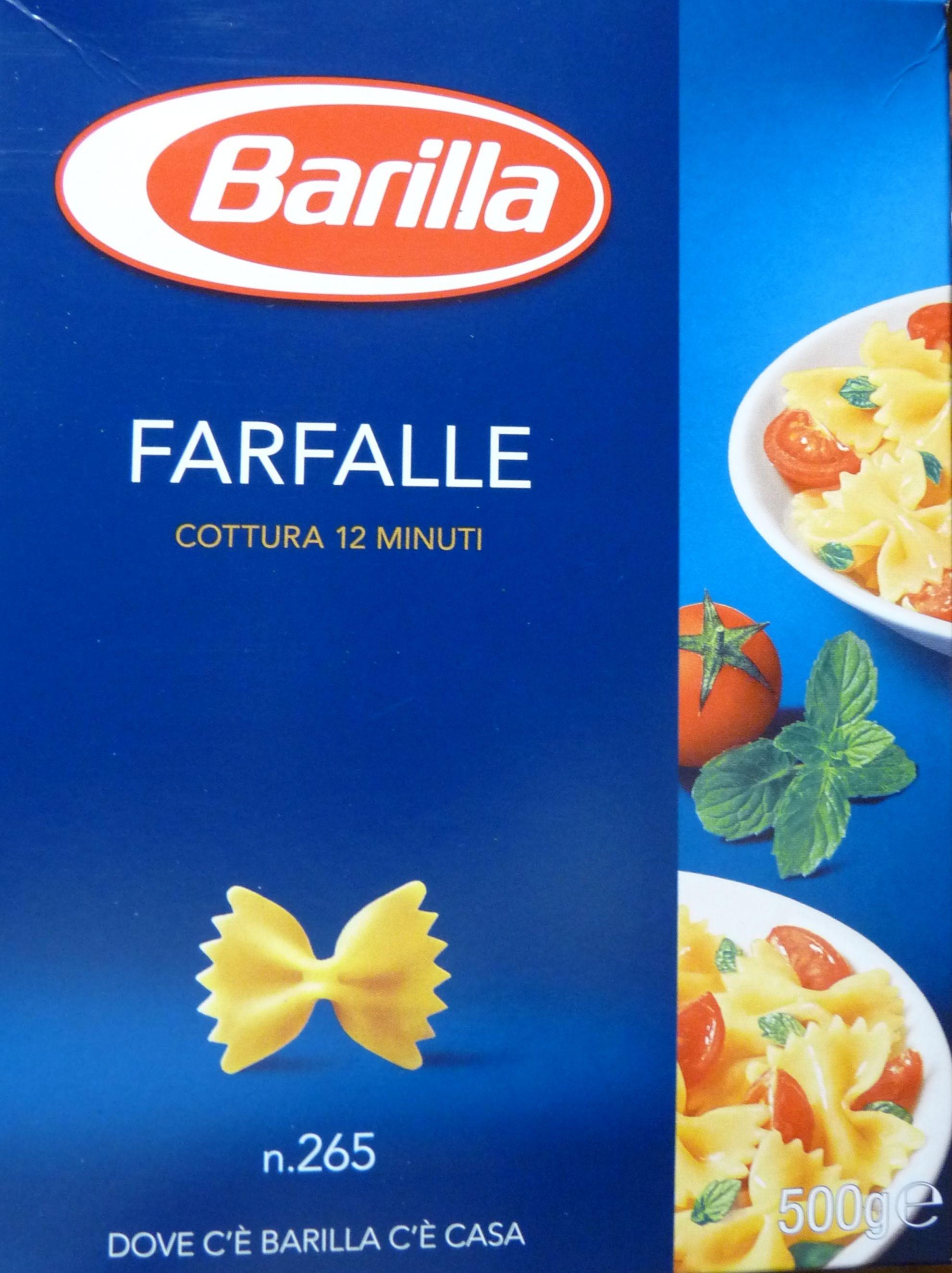 BARILLA FARFALLE Pasta di semola di grano duro - Product - it