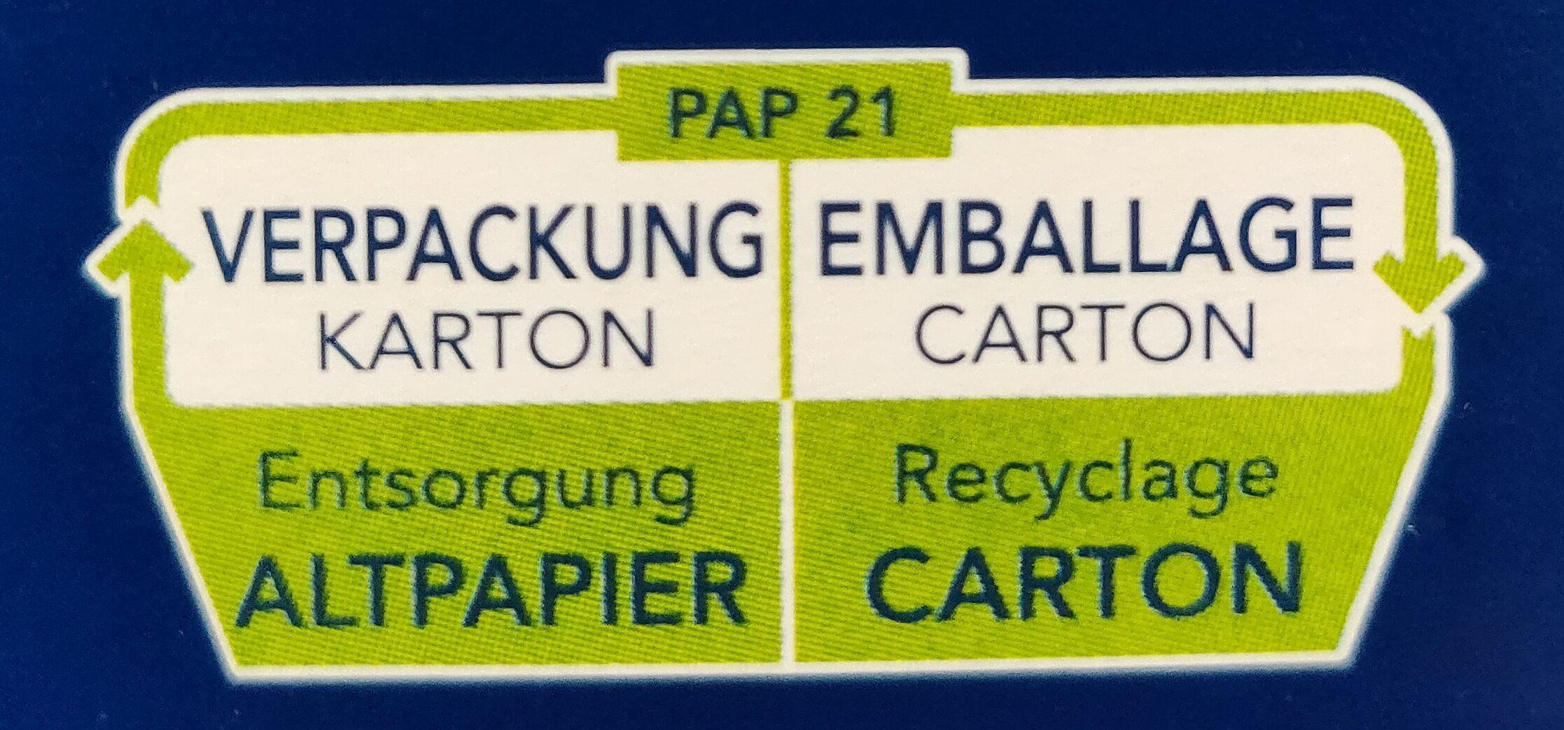 Penne Rigate - Instruction de recyclage et/ou informations d'emballage - de