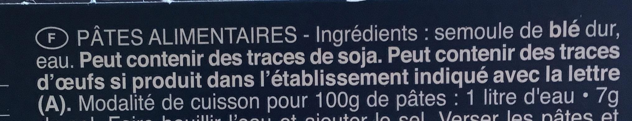 Pâtes Capellini - Ingrediënten
