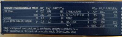 Barilla pates capellini n°1 - Valori nutrizionali - it