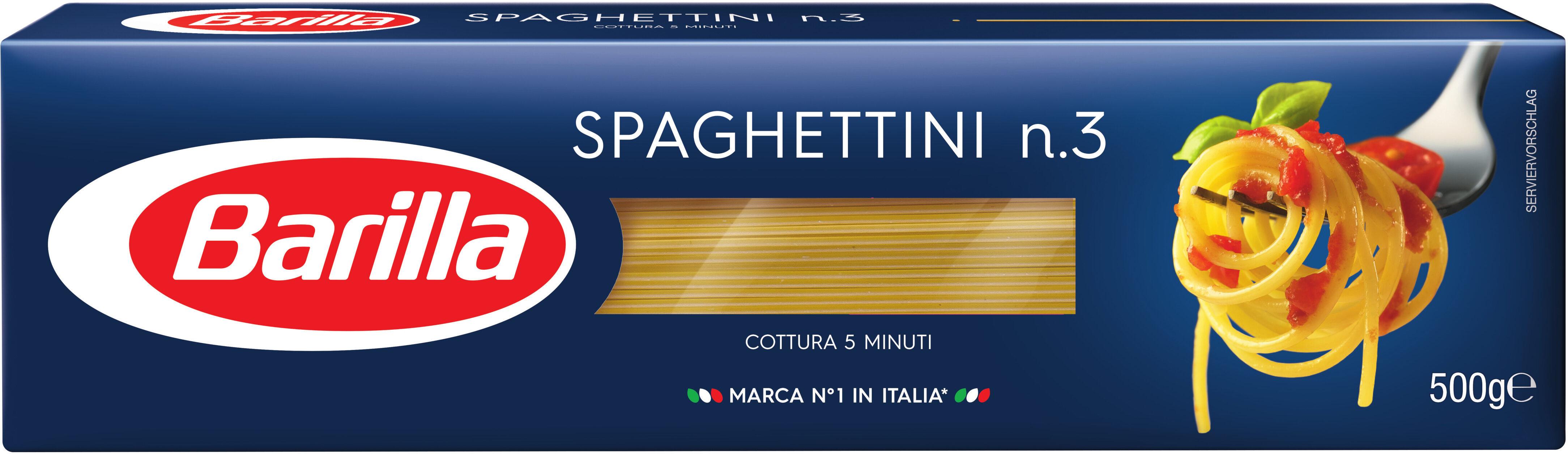 Pâtes Spaghettini n.3 - Produit - fr