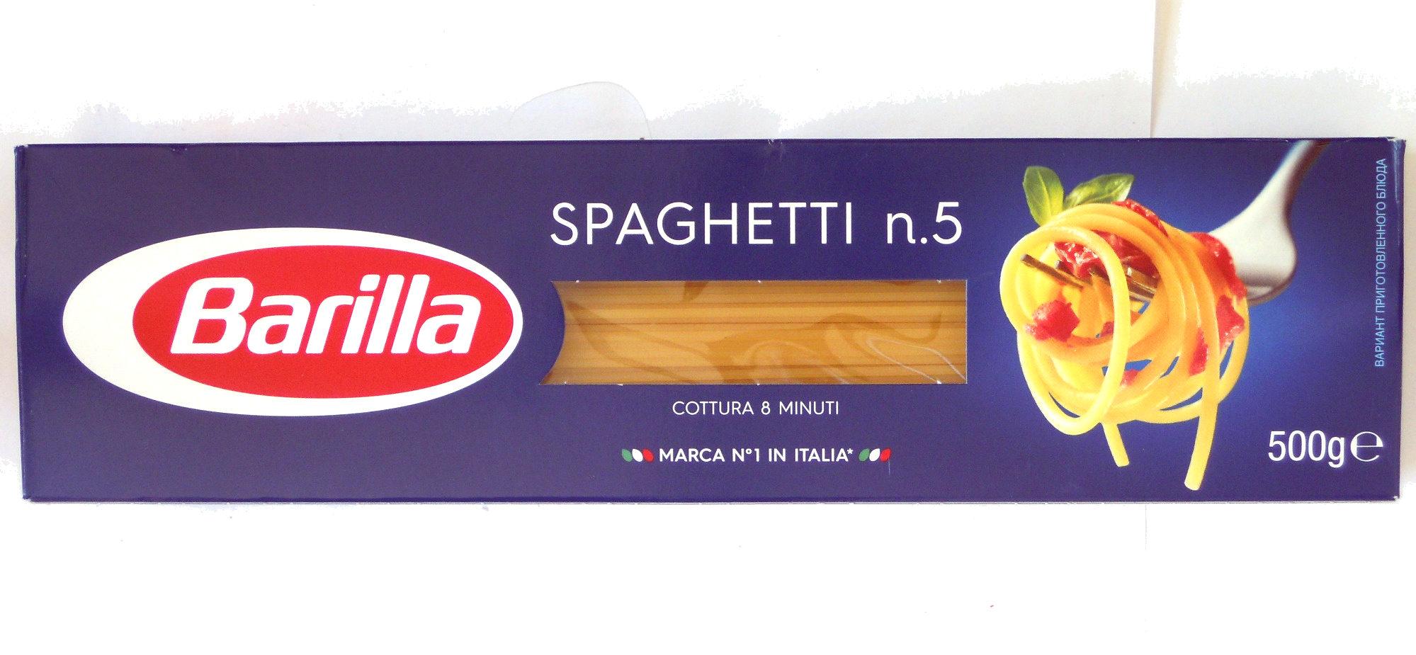Spaghetti n. 5  Barilla - Продукт