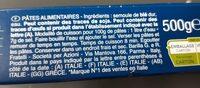 Spaghetti n°5 - Ingredients