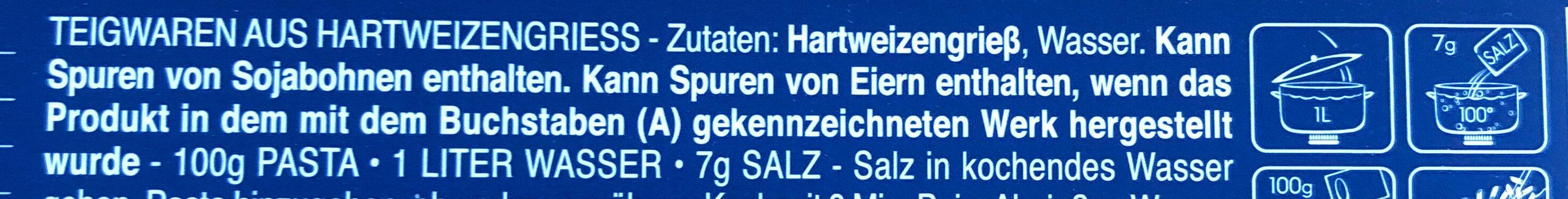 Bavette n.13 - Ingredientes - de