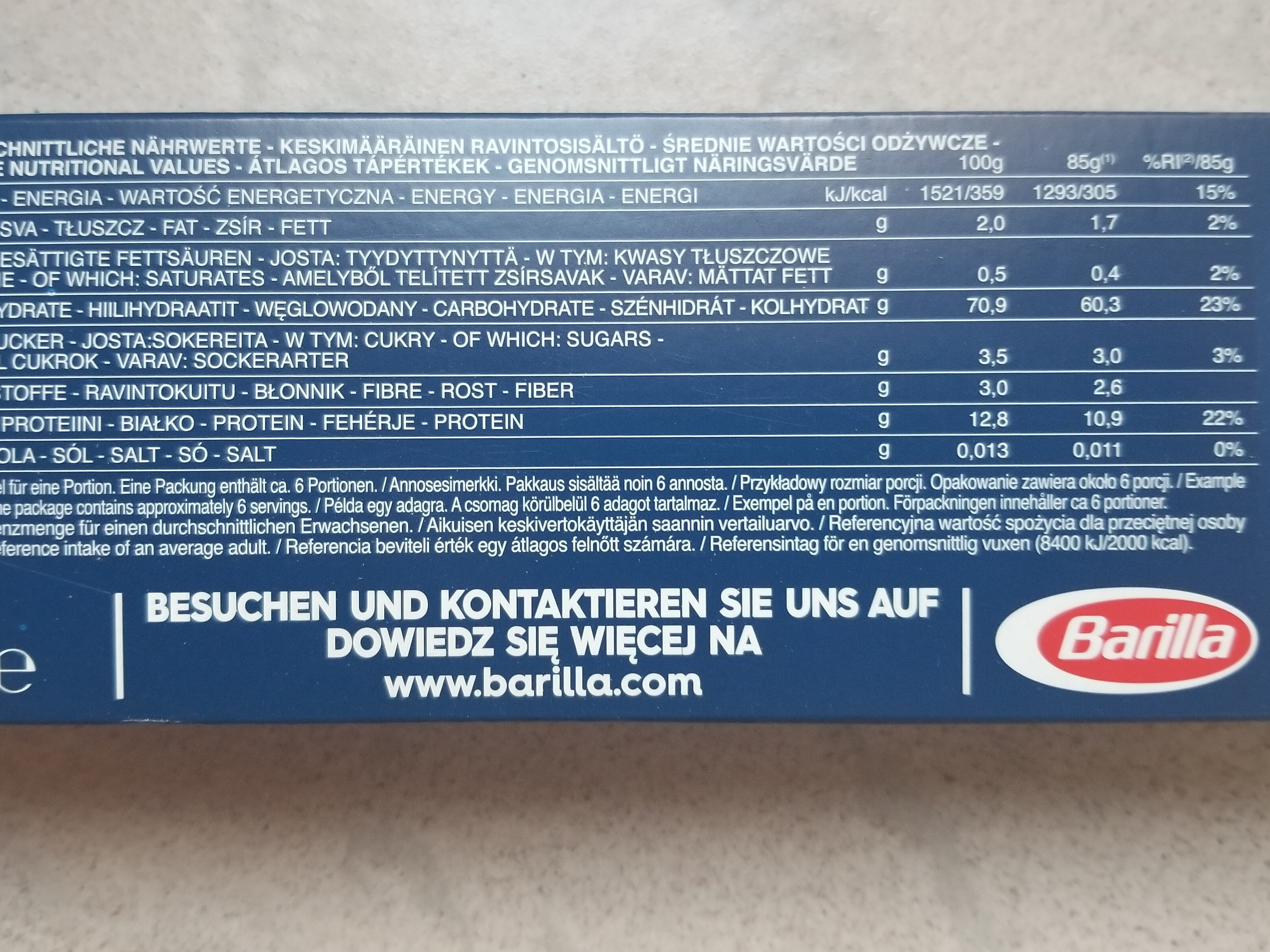 BAVETTE n.13 - Nutrition facts