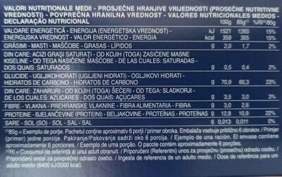 Bavette n.13 - Información nutricional - de