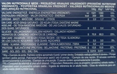 Bavette N. 13 Nudeln - Informations nutritionnelles - de