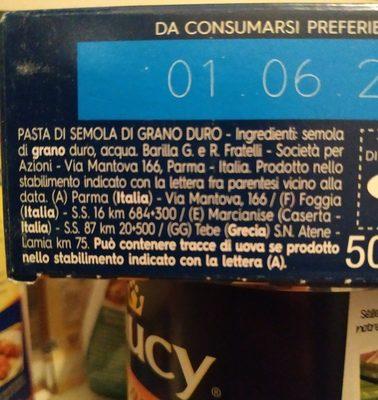Barilla 023 Puntine GR. 500 - Ingrédients