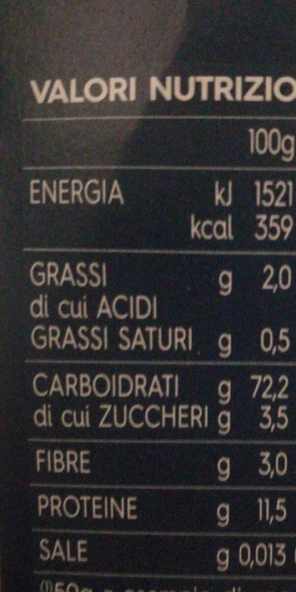 Conchigliette n - Informations nutritionnelles - fr