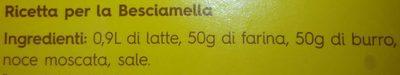 Emiliane lasagne - Ingredients