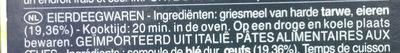 Lasagne all'uovo - Ingrediënten - nl