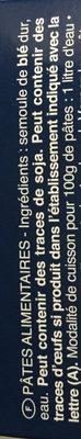 Pâtes - Penne Rigate n.73 - Inhaltsstoffe