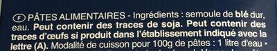 Pâtes - Penne Rigate n.73 - Ingrédients