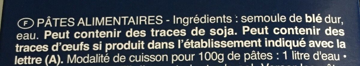 Penne rigate n.73 - Ingrédients - fr