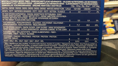 Rigatoni 500g imu eu - Nutrition facts - fr