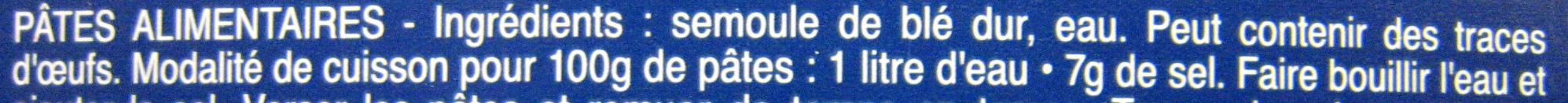 Pâtes Pipe Rigate - Ingredients - fr