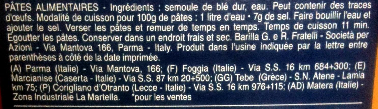 Fusilli - Ingredients
