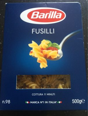 Pâtes Fusilli - Nutrition facts