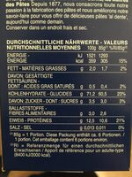 Barilla pates fusilli - Informations nutritionnelles - fr