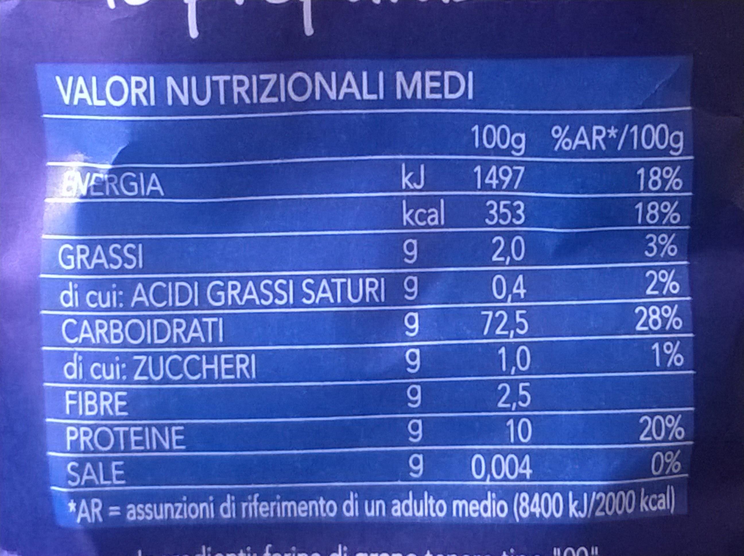 Farina per tutte le preparazioni - Informations nutritionnelles - en