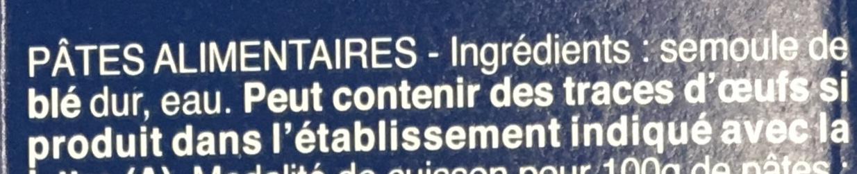 Pâtes Farfalline - Ingredienti - fr