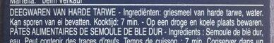 Pâtes Maccheroni - Ingrediënten - nl