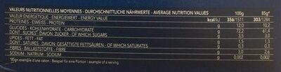 Pâtes Maccheroni - Voedingswaarden - nl