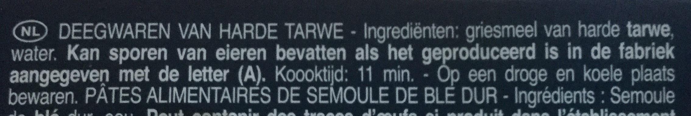 Pâtes Spaghettoni - Ingrediënten - nl