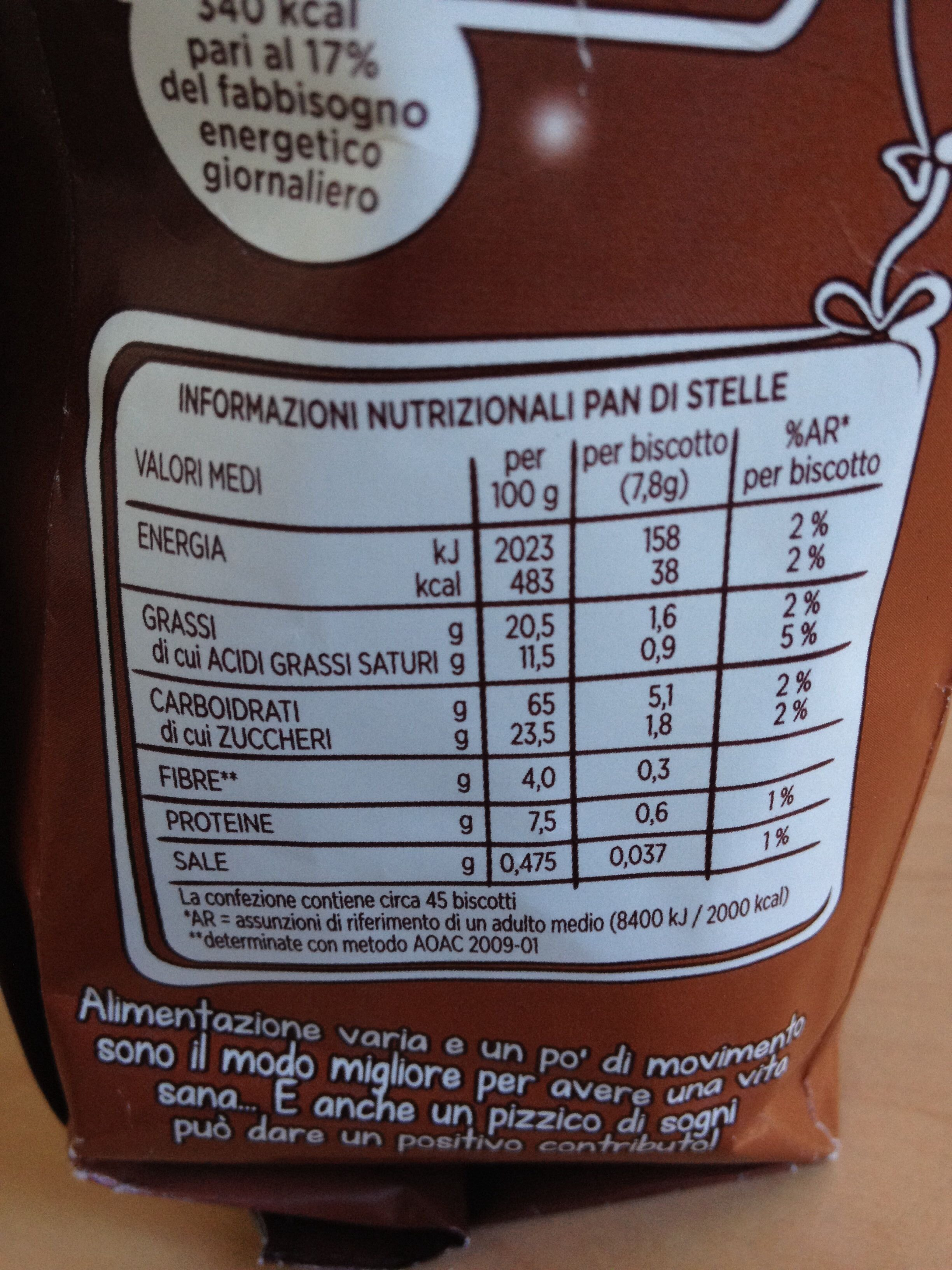 Pan di Stelle - Nutrition facts - it