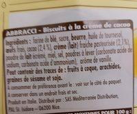 Abbracci fin cacao e panna fresca - Ingrediënten - fr