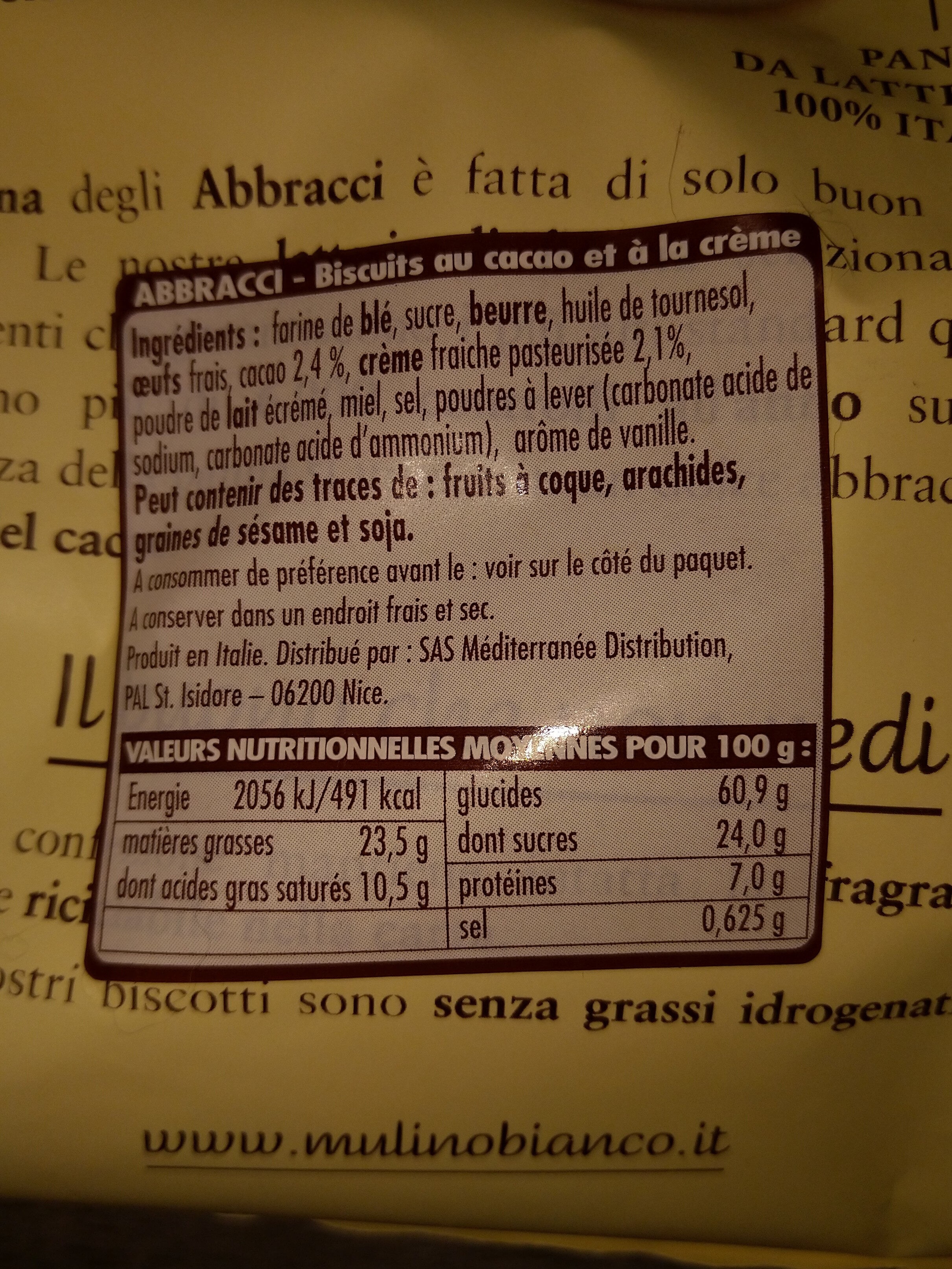 Abbracci - Ingrediënten - fr