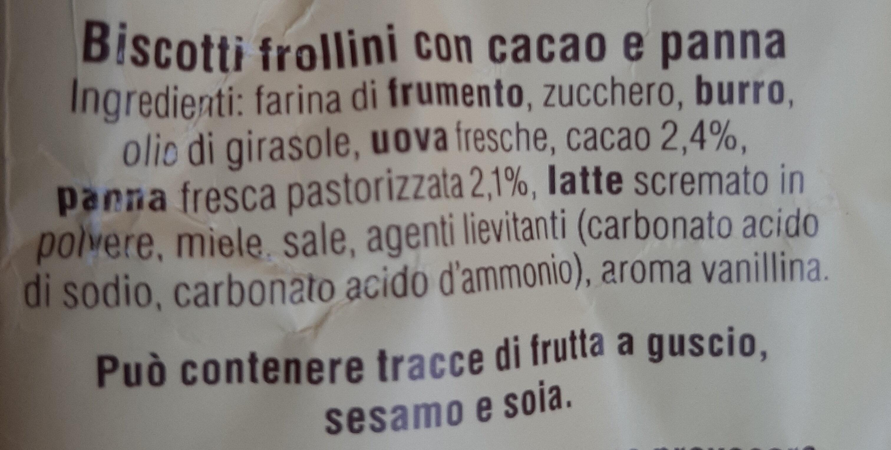Abbracci con cacao e panna fresca - Ingredienti - it