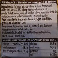 Abbracci - Valori nutrizionali - it