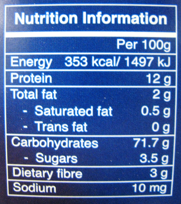 Collection Mezze Pens Tricolore - Informations nutritionnelles - fr