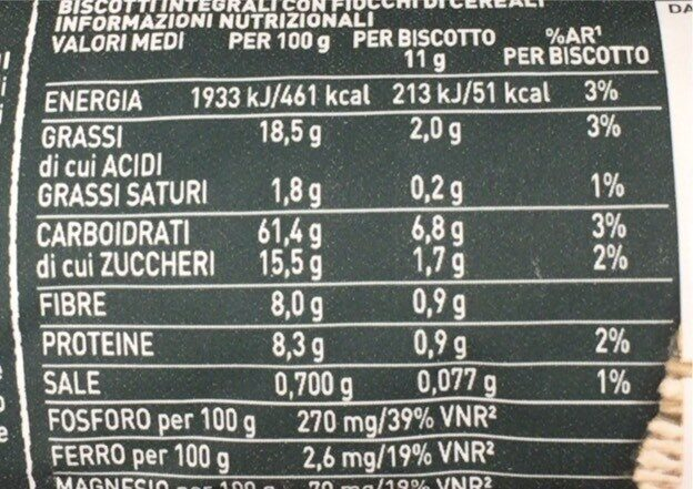 Gran Cereale classico - Nutrition facts - fr