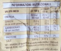 Macine - Nutrition facts - it