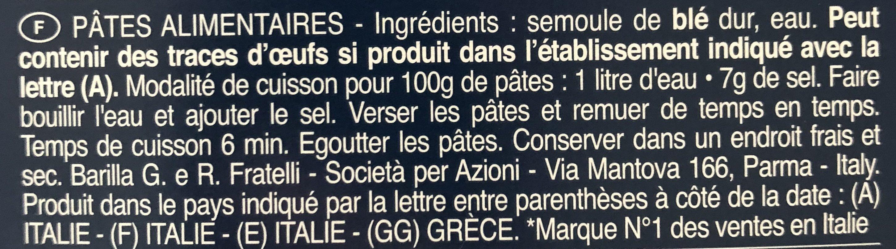 Pâtes Torsade - Ingrediënten