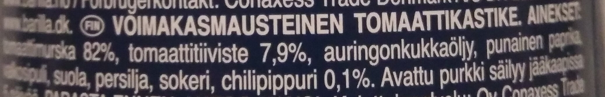 Barilla sauce tomates arrabbiata - Ainesosat - fi