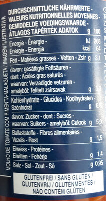 Sauce arrabbiata - Nutrition facts - fr