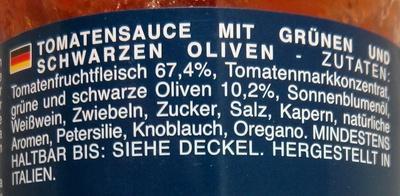 Barilla Olive - Zutaten - de