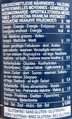 Barilla sauce basilic - Nährwertangaben - de