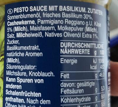 Pesto sauce with basil - Zutaten - de