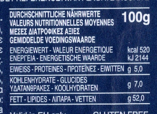 Pesto alla Genovese - Informations nutritionnelles - fr