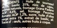 Barilla sauce pesto alla genovese basilic frais - Ingredientes