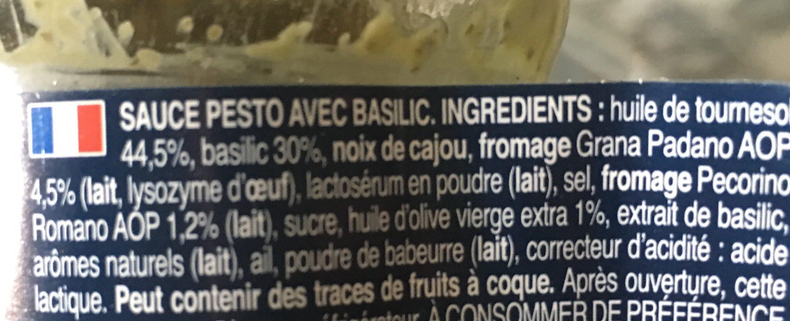 Barilla sauce pesto alla genovese basilic frais - Ingredienti - fr